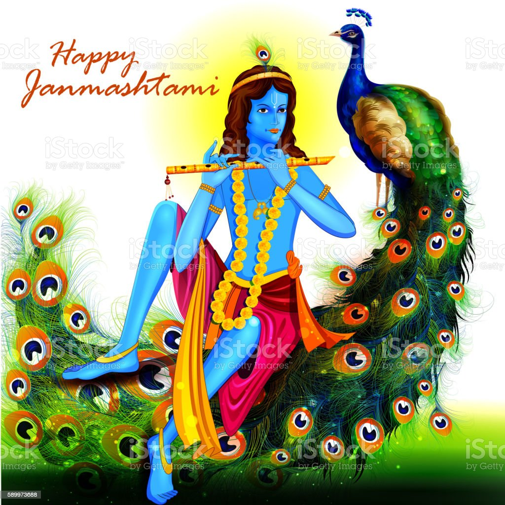 Happy Krishna Janmashtami Stock Illustration - Download