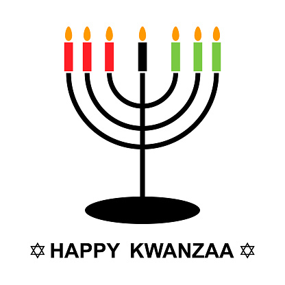 Happy kwanzaa , american design isolated on white background. Greeting card, vector illustration