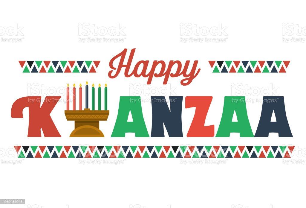 Feliz Kwanzaa Banner, vetor - ilustração de arte em vetor
