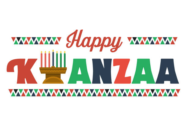 Happy Kwanzaa Banner, Vector vector art illustration
