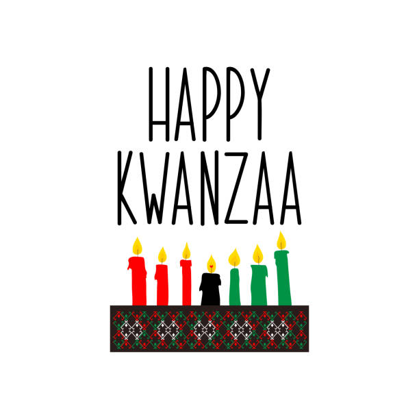 Carte de Kwanzaa heureux. Lettrage. illustration vectorielle de calligraphie. - Illustration vectorielle