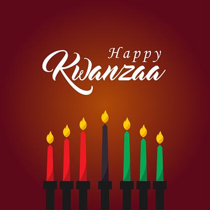 Happy Kwanzaa Day Vector Design Template Background