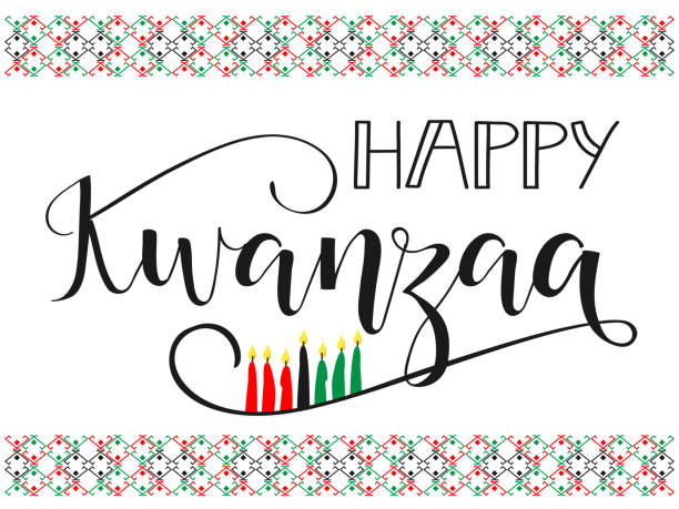 Happy Kwanzaa decorative greeting card. vector art illustration