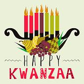 Happy Kwanzaa greeting card, background