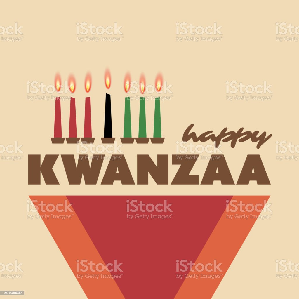 Feliz Kwanzaa Modelo de Cartão de saudação do projeto - ilustração de arte em vetor