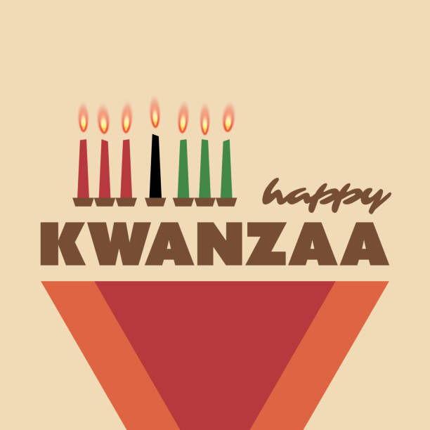 Happy Kwanzaa carte de voeux Design Template - Illustration vectorielle