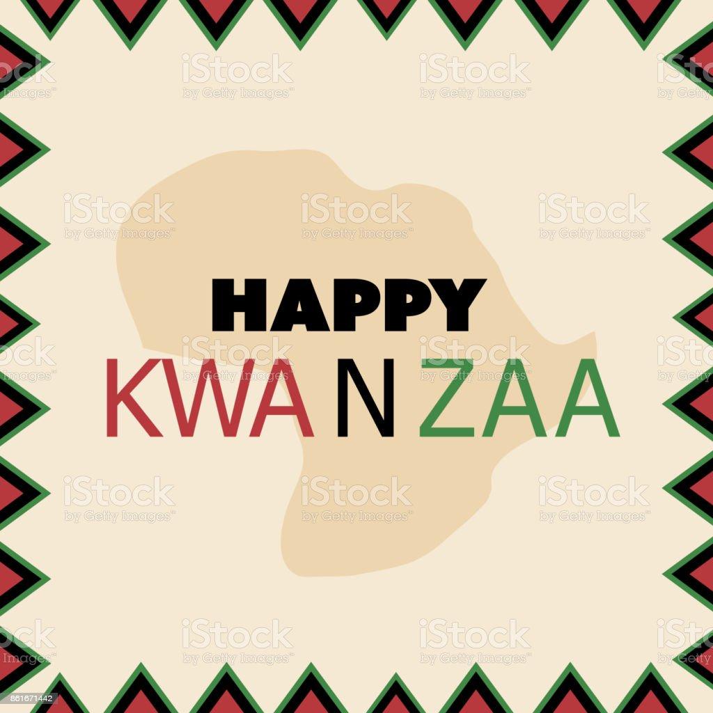 Feliz Kwanzaa plantilla de diseño de tarjeta de felicitación - ilustración de arte vectorial