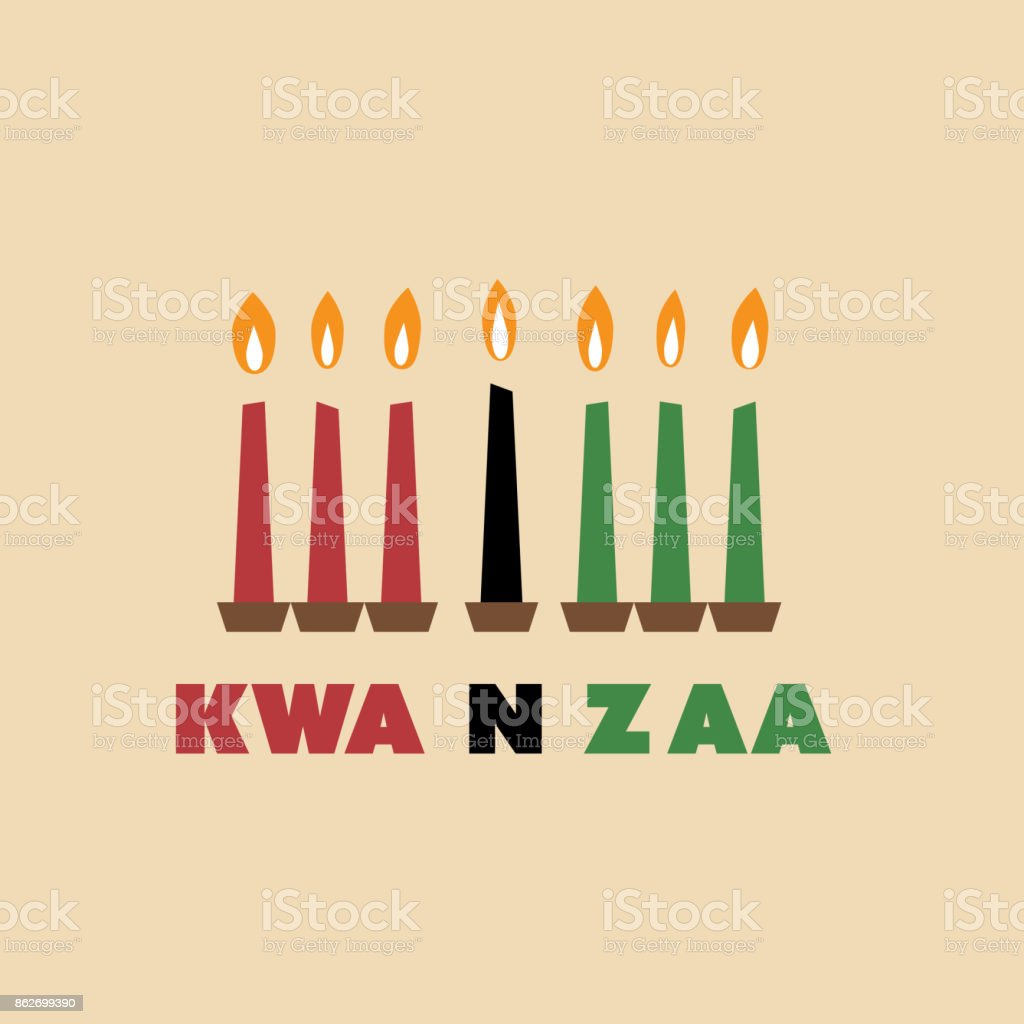 Happy Kwanzaa Greeting Card Design Template vector art illustration