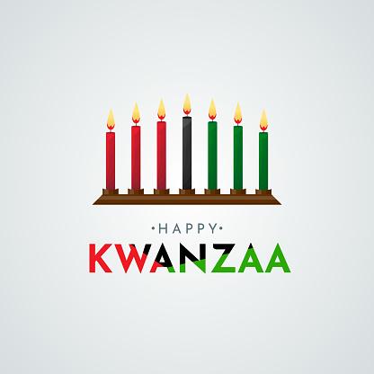 Happy Kwanzaa poster, card. Vector
