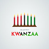 Happy Kwanzaa poster, card. Vector illustration. ESP10