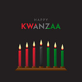 Happy Kwanzaa poster, design, background. Vector