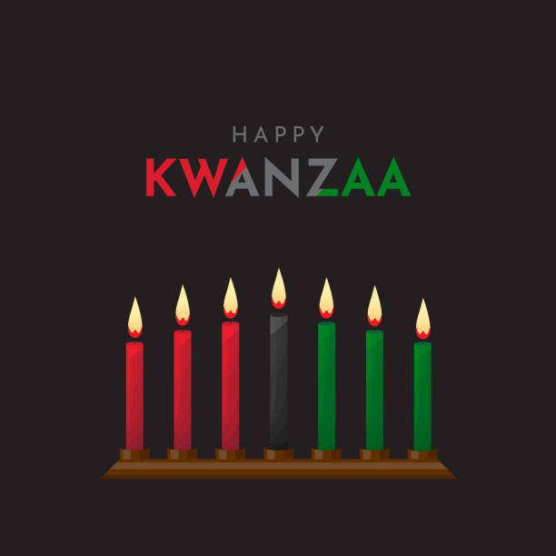 Happy Kwanzaa poster, design, background. Vector Happy Kwanzaa poster, design, background. Vector illustration. ESP10 kwanzaa stock illustrations