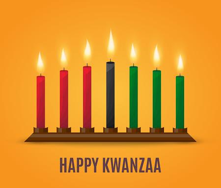 Happy Kwanzaa poster design. Vector
