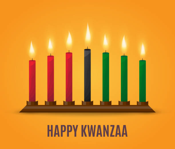 Happy Kwanzaa poster design. Vector Happy Kwanzaa poster design. Vector illustration. EPS10 kwanzaa stock illustrations