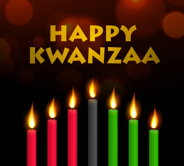 Happy Kwanzaa vector art illustration