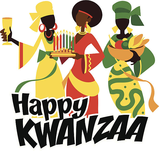 Heureux Kwanza - Illustration vectorielle
