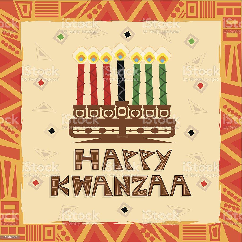 Feliz Kwanzaa - ilustração de arte em vetor