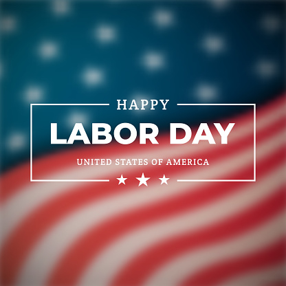 Happy Labor Day a national holiday of the United States. Banner for celebrating American holiday Labor day. Vector design template.