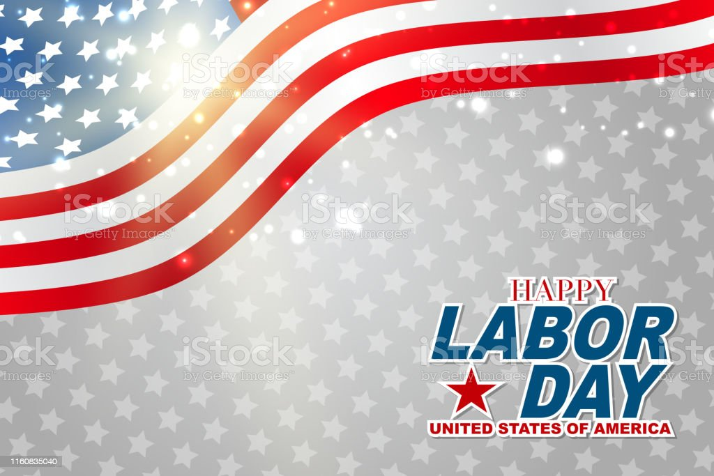Happy Labor Day Background Usa National Holiday Concept Realistic