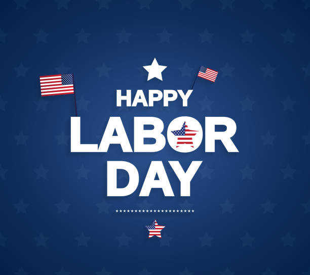 happy labor day background with usa flag. vector illustration. - labor day stock illustrations, clip art, cartoons, & icons