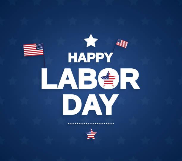 ilustraciones, imágenes clip art, dibujos animados e iconos de stock de feliz día del trabajo el fondo con la bandera de estados unidos. ilustración de vector. - día del trabajo