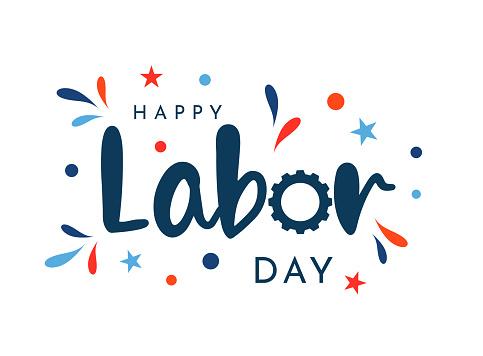 Happy Labor Day card. Vector