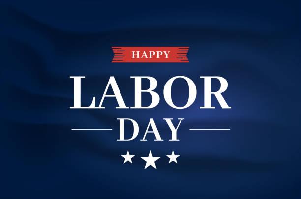 Happy Labor Day elegant poster, satin silk fabric background. Vector Happy Labor Day elegant poster, satin silk fabric background. Vector illustration. EPS10 labor day stock illustrations