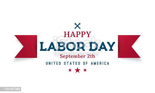 Happy Labor Day greeting banner. Vector design.