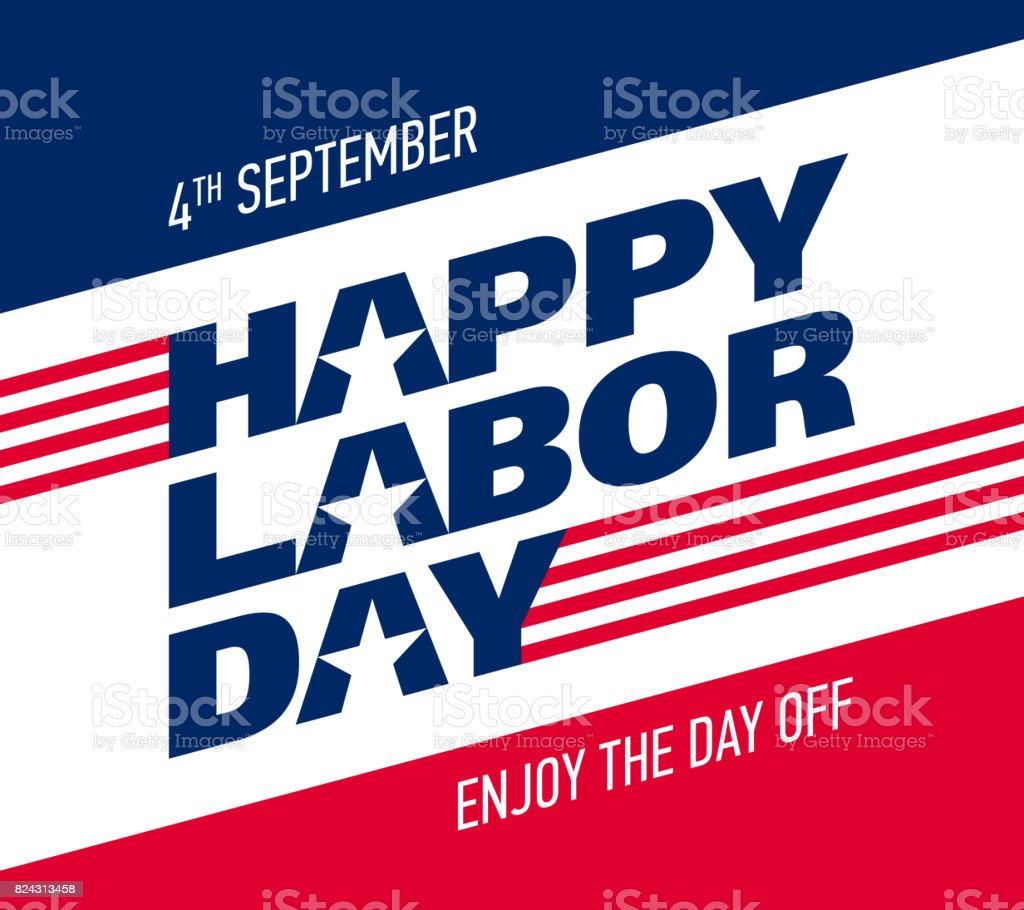 Happy Labor Day greeting card design vector art illustration