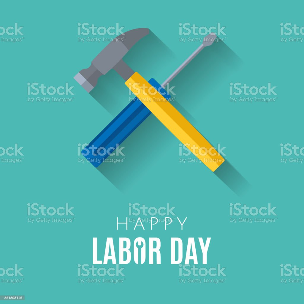 Happy Labor Day Greetings Cards Design Poster Banner Brochure Stock