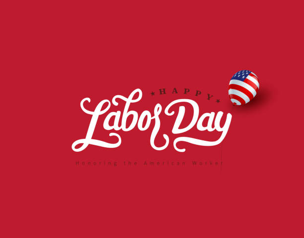 Happy labor day hand lettering  background banner template.Vector illustration . Happy labor day hand lettering  background banner template.Vector illustration . labor day stock illustrations