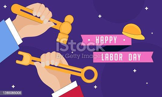 istock Happy Labor Day illustration 1285085005