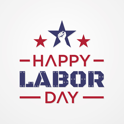 Happy Labor Day letter for element design