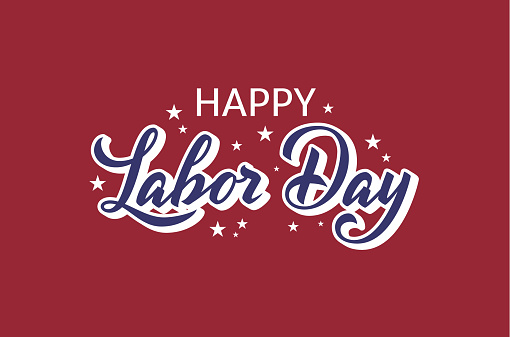 Happy Labor Day lettering background