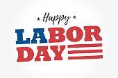 Happy Labor Day logo. Editable vector design.
