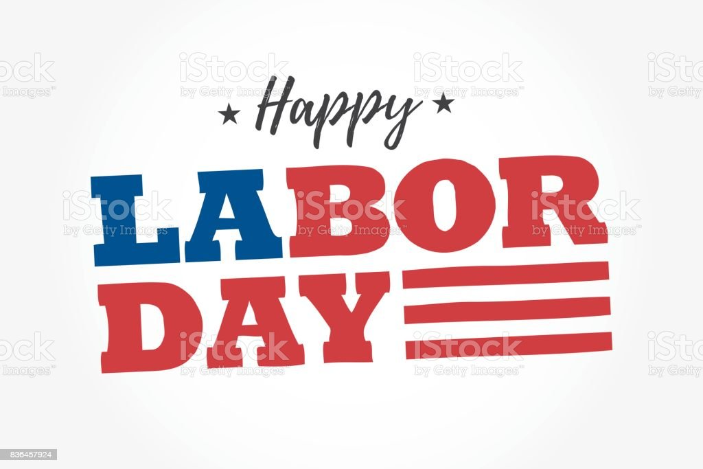 Happy Labor Day logo. Editable vector design. vector art illustration