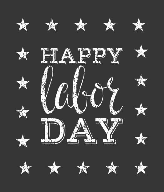 Heureuse fête du travail (labor day) à baldaquin. - Illustration vectorielle
