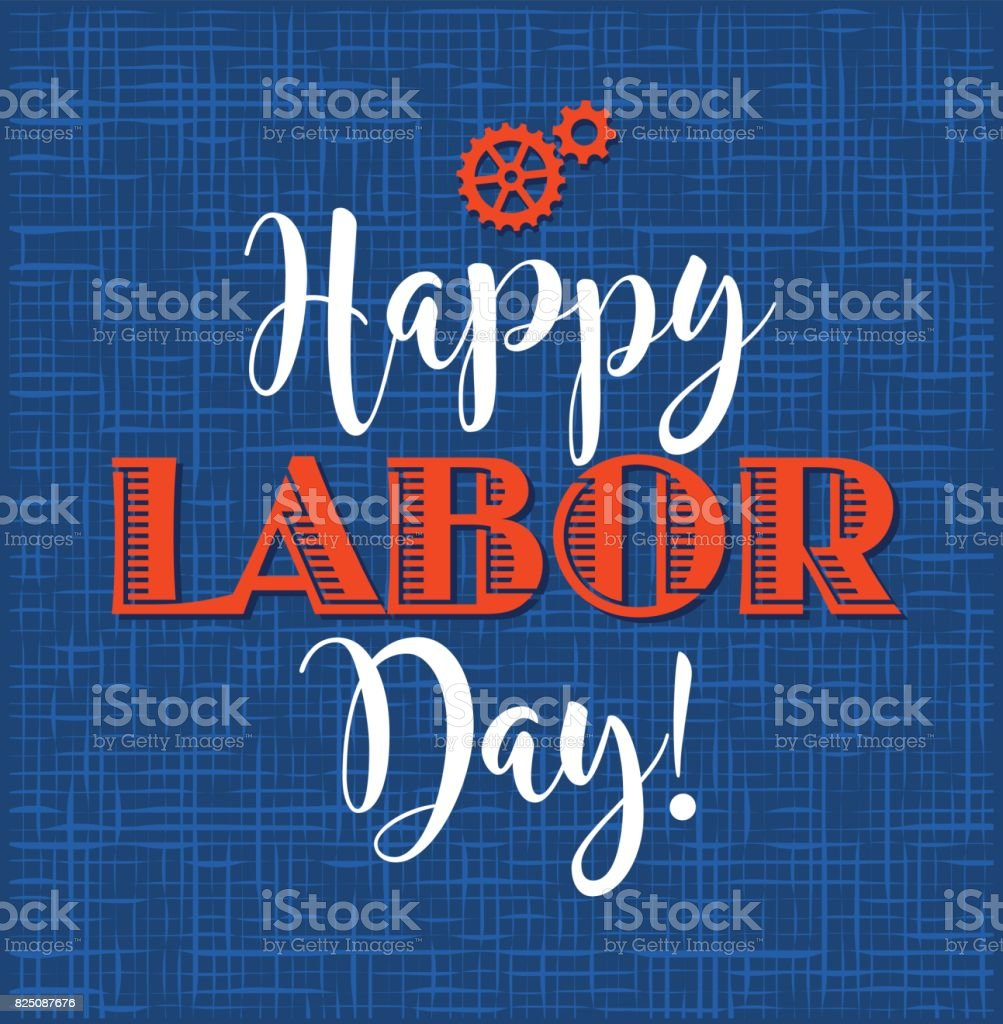 Happy Labor Day Typography Design For Greeting Cards Web Banners