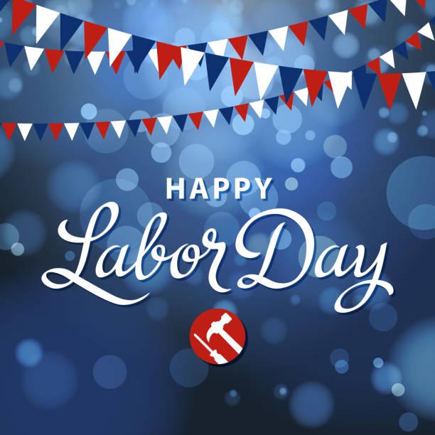 glücklich labor day - tag der arbeit stock-grafiken, -clipart, -cartoons und -symbole