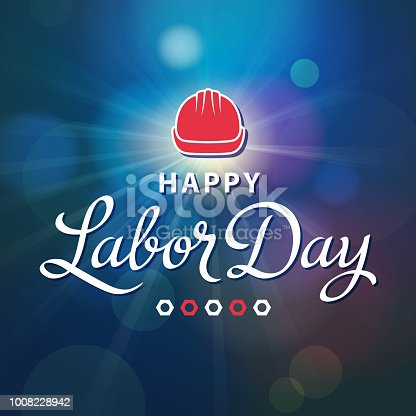 Let's celebrate and honor the labor movement on the holiday of Labor Day with work helmet and wheel nunt