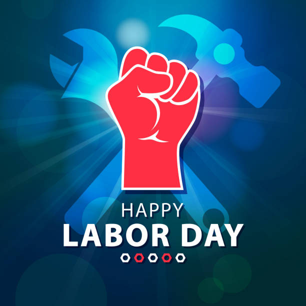 happy labor day - may day stock illustrations, clip art, cartoons, & icons
