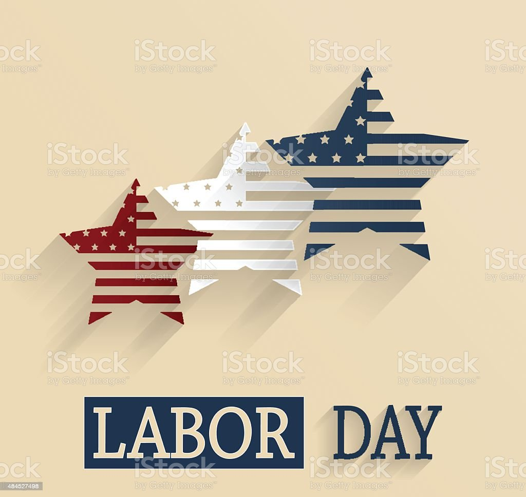 Happy Labor Day. Vector illustration. All elements are separate....