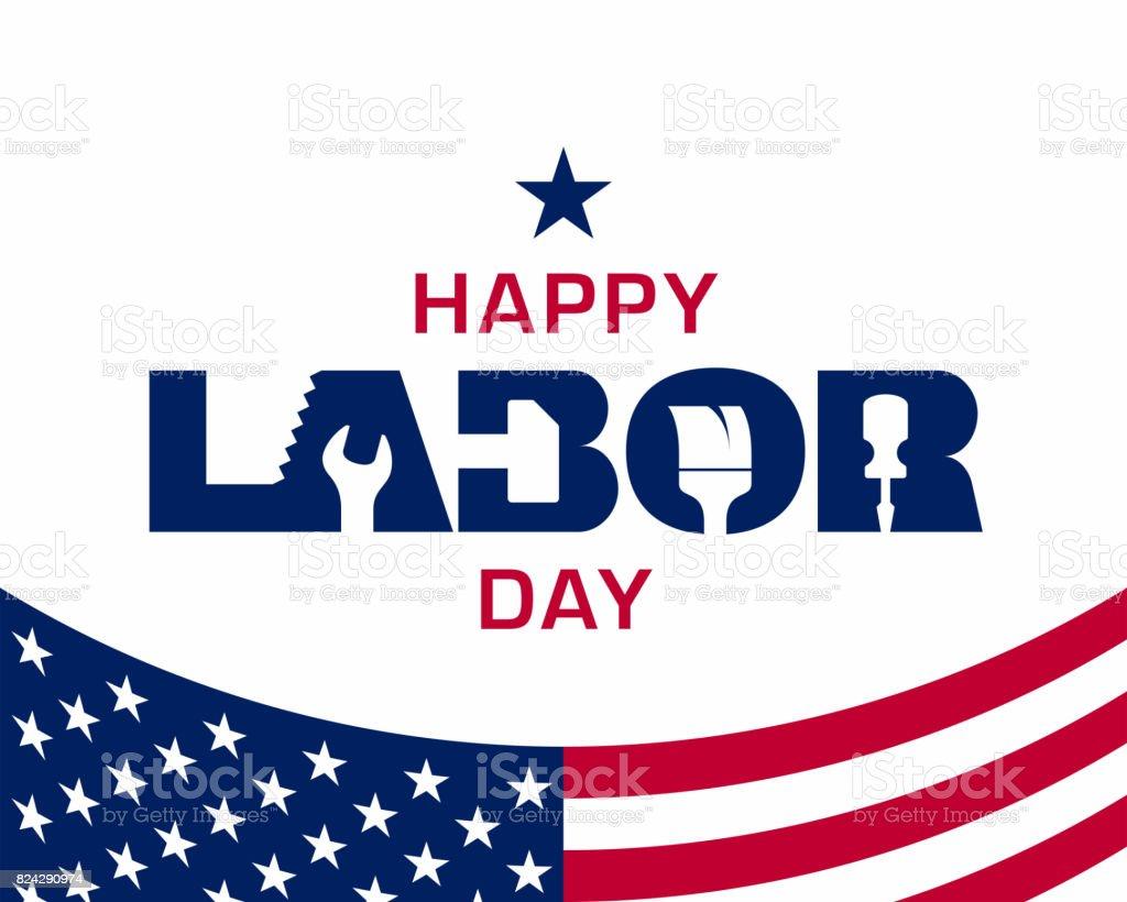 Happy Labor Day Vector Art Illustration