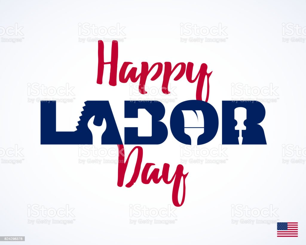 Happy Labor Day vector art illustration
