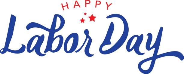 happy labor day vector typography - labor day stock illustrations, clip art, cartoons, & icons