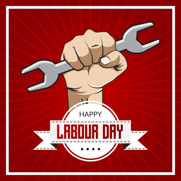 happy labour day - may day stock illustrations, clip art, cartoons, & icons