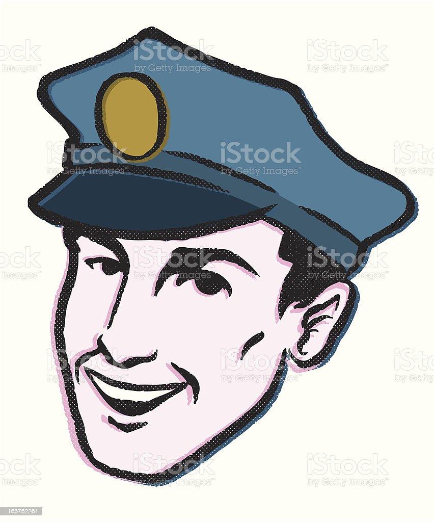 happy law man vector art illustration