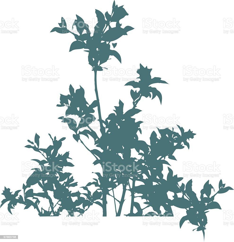 Happy leaves - vector royalty-free stock vector art