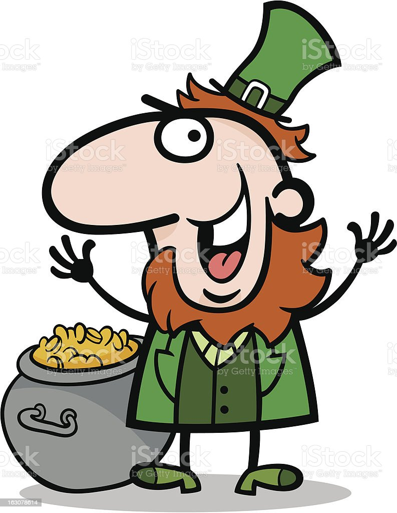 happy Leprechaun cartoon illustration royalty-free happy leprechaun cartoon illustration stock vector art & more images of adult