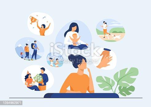 istock Happy life memories concept 1254952971